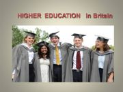English powerpoint: Highter Education in Britain
