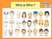 English powerpoint: Who is who ?