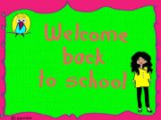 English powerpoint: welcome back to school poster