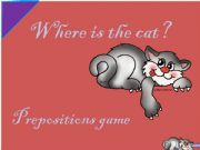 English powerpoint: Prepositions Game - part 1