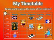 English powerpoint: Timetable