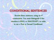 English powerpoint: Conditionals 1 and 2