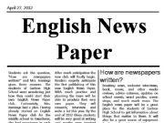 English powerpoint: English Newspaper