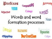 English powerpoint: Words and word formation processes