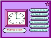 English powerpoint: WHAT TIME IS IT?