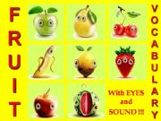 English powerpoint: FRUIT VOCABULARY - with SOUND, ANIMATED