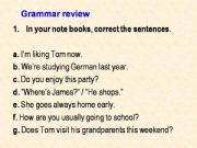 English powerpoint: Grammar Review