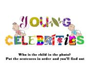English powerpoint: Young Celebrities