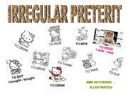 English powerpoint: 55 irregular preterit illustrated