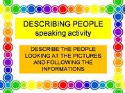 English powerpoint: describing people-speaking activity