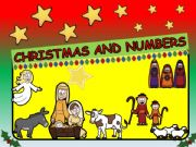 English powerpoint: CHRISTMAS AND NUMBERS- 12 SLIDES