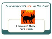 English powerpoint: How many cats are in the sun?