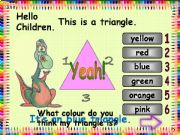 English powerpoint: Game - Add Colours to Shapes