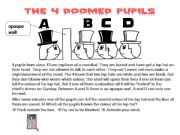 English powerpoint: The four doomed pupils - Brainteaser
