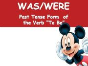 English powerpoint: to be in the past