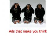 English powerpoint: ADS THAT MAKE YOU THINK