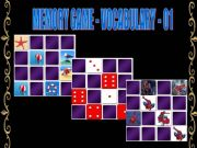 English powerpoint: MEMORY GAME - VOCABULARY - 1