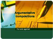 English powerpoint: Argumentative composition
