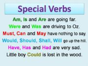 English powerpoint: special verbs