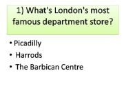 English powerpoint: London quiz