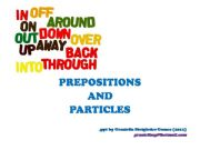 English powerpoint: Preposition and Particles
