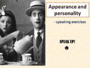 English powerpoint: SPEAKING - HUMAN - PERSONALITY, APPEARANCE, EMOTIONS - editable