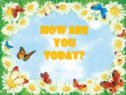 English powerpoint: How Are You Today? #1