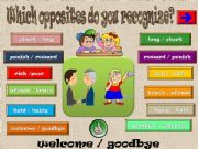 English powerpoint: WHICH OPPOSITES DO YOU RECOGNIZE ? PART 3/3