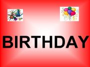 English powerpoint: Birthday