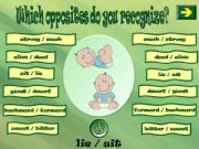 English powerpoint: WHICH OPPOSITES DO YOU RECOGNIZE? 3 PART 2