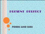 English powerpoint: Present perfect