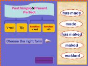 English powerpoint: Game Past Simple or Present Perfect+animated pictures