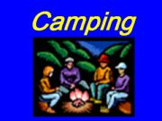 English powerpoint: camping