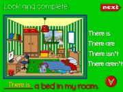 English powerpoint: There is - There are (GAME)
