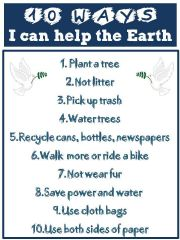English powerpoint: EARTH DAY (printable)