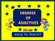 English powerpoint: Degrees of adjectives