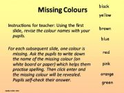 English powerpoint: Missing Colours