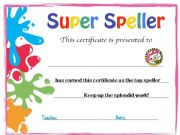 English powerpoint: Certificate templete