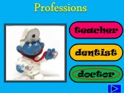 English powerpoint: Smurf Professions