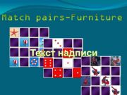 English powerpoint: Game - Match pairs_Furniture