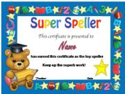 English powerpoint: certificate