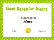 English powerpoint: Behavior certififcates