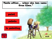 English powerpoint: Present Simple - Present Continuous Game part 2