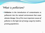 English powerpoint: Pollution the growing danger