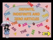 English powerpoint: Definite, indefinite and zero articles - game 1 (4)