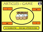 English powerpoint: Definite, indefinite and zero articles - game 3 (4)