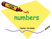 English powerpoint: Numbers for adult students -explanation and exercise