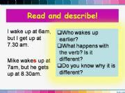 English powerpoint: Simple Present_routines_part2