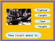 English powerpoint: Irregular Past Tense Game Part 2