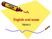 English powerpoint: English oral exam for Kids